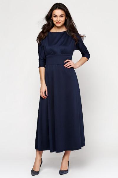Платье «Кари» темно-синего цвета