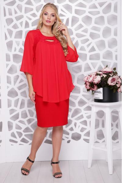 Сукня «Афіна» червоного кольору