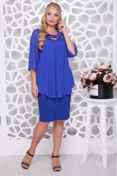 Сукня «Афіна» кольору електрик