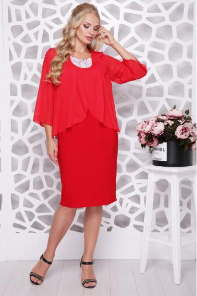Сукня «Мелодія» червоного кольору