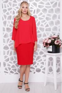 Платье «Афелия» красного цвета