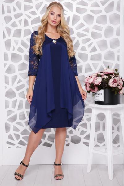 Сукня «Роза» синього кольору