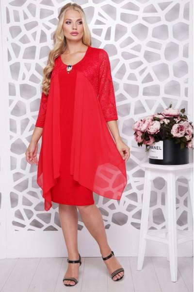 Сукня «Роза» червоного кольору