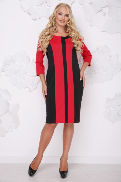 Сукня «Бонжур» червоного кольору з чорним