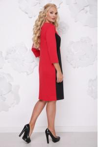 Платье «Бонжур» красного цвета с черным