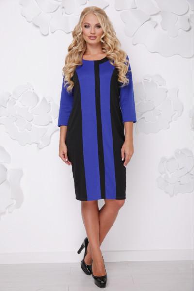 Сукня «Бонжур» кольору електрик з чорним