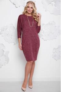 Платье «Арабика» бордового цвета