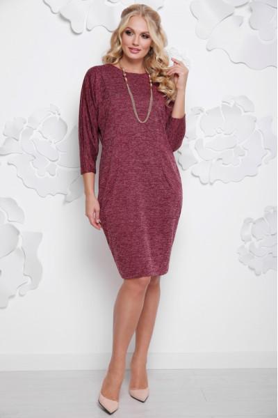 Сукня «Арабіка» бордового кольору