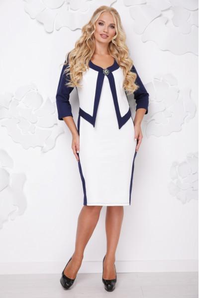 Сукня «Париж» темно-синього кольору з білим