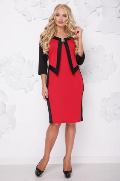 Сукня «Париж» червоного кольору з чорним