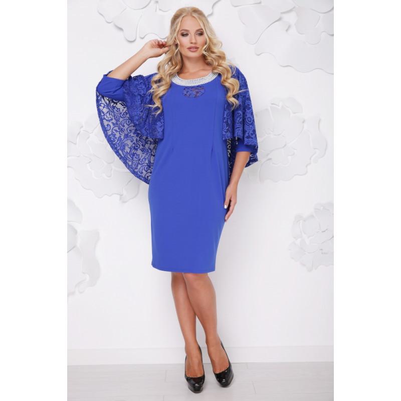Сукня «Мілана» колір електрик – купити в Києві 35aa3c2891b8d