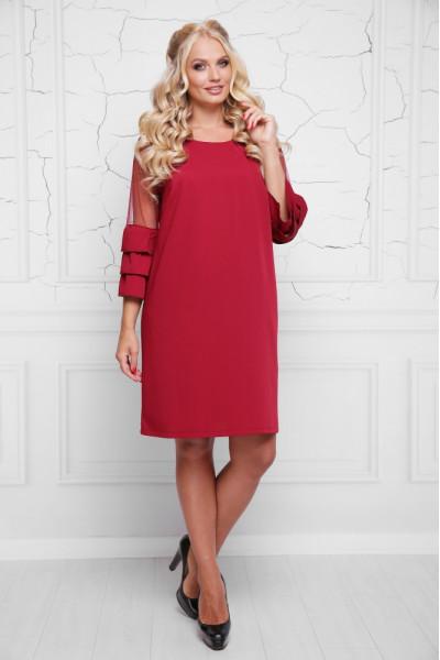 Сукня «Індиго» вишневого кольору