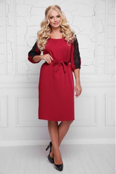 Сукня «Франческа» вишневого кольору