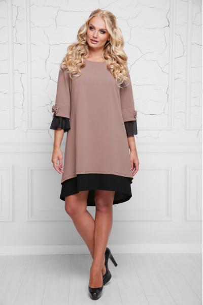 Сукня «Стела» кольору кави