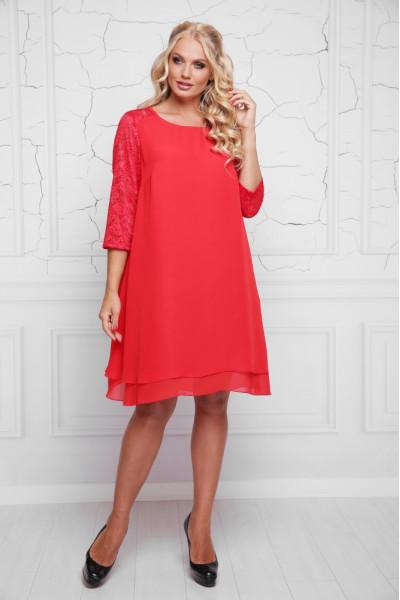 Сукня «Альба» червоного кольору