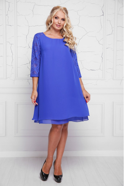 Сукня «Альба» кольору електрик
