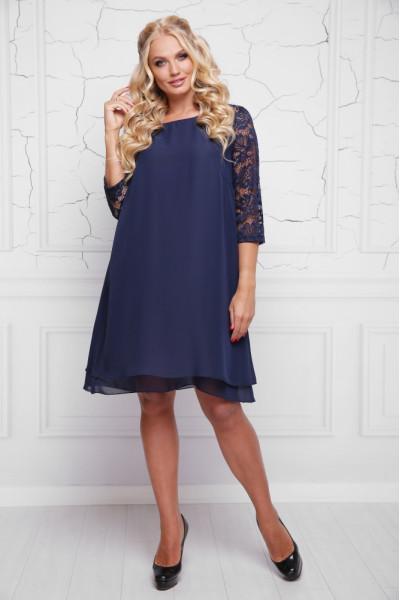 Сукня «Альба» темно-синього кольору