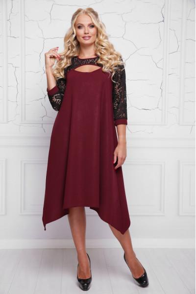 Сукня «Анабель» бордового кольору