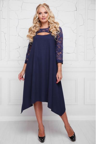 Сукня «Анабель» темно-синього кольору