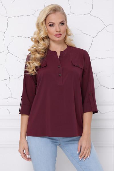Блуза «Сицилія» бордового кольору