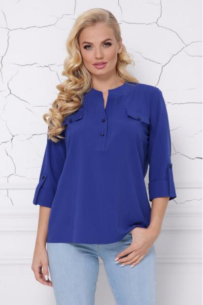 Блуза «Сицилия» цвета электрик