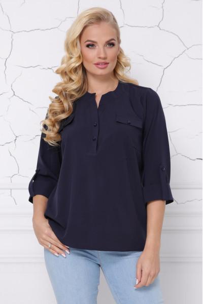 Блуза «Сицилія» темно-синього кольору