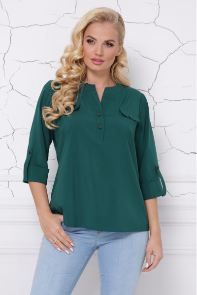 Блуза «Сицилія» смарагдового кольору