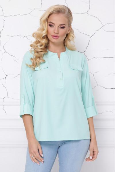 Блуза «Сицилія» м'ятного кольору