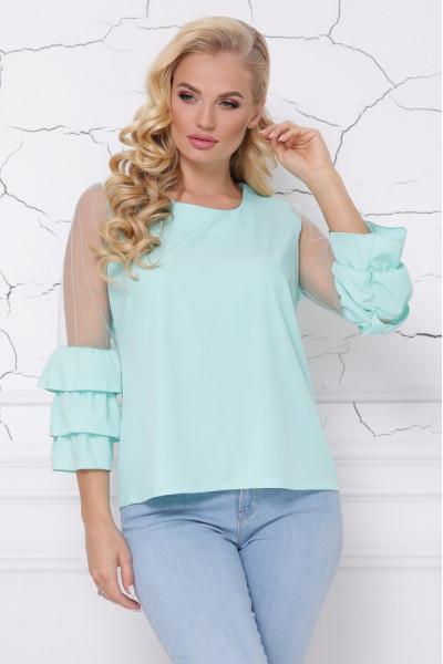 Блуза «Індиго» кольору м'яти