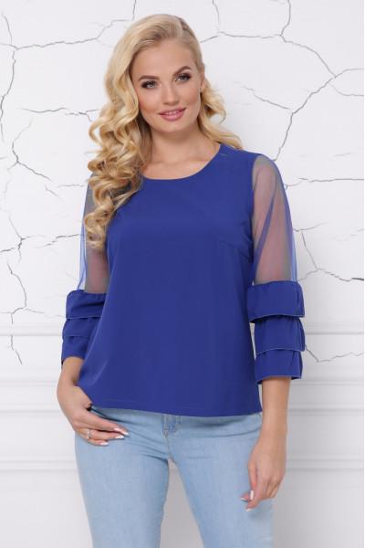Блуза «Індиго» кольору електрик