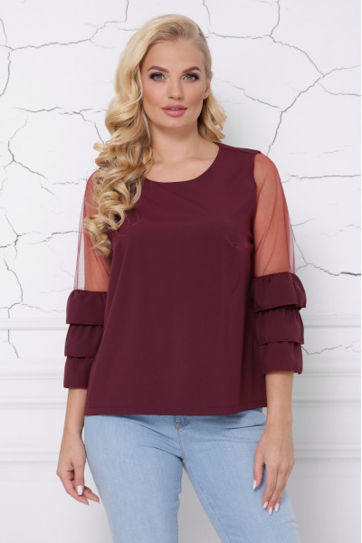 Блуза «Індиго» бордового кольору