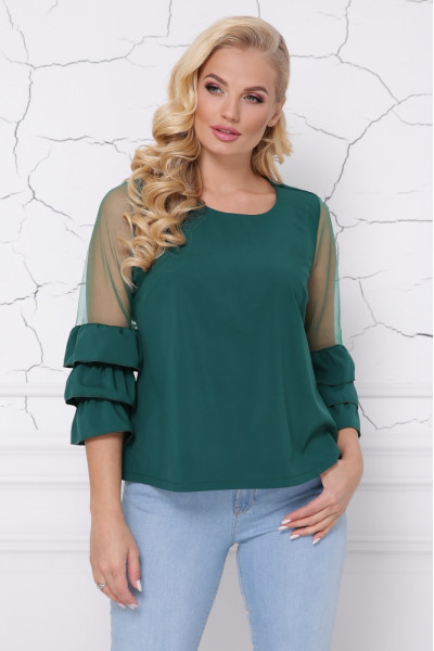 Блуза «Индиго» изумрудного цвета