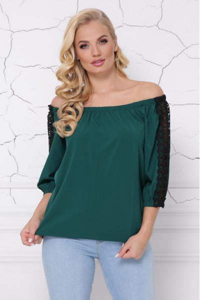 Блуза «Франческа» смарагдового кольору