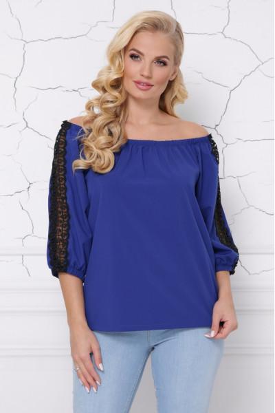 Блуза «Франческа» цвета электрик