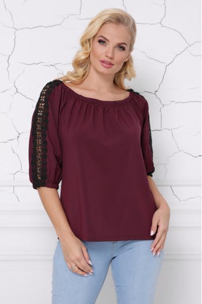 Блуза «Франческа» бордового кольору