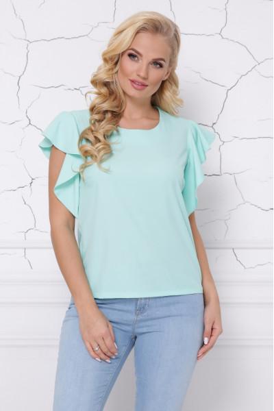 Блуза «Інга» кольору м'яти