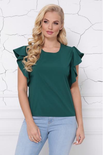 Блуза «Інга» смарагдового кольору