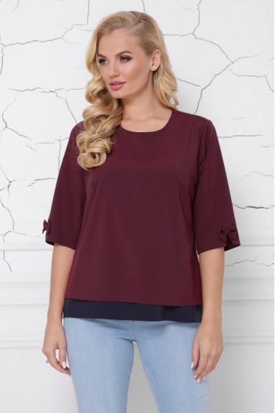 Блуза «Стела» бордового кольору