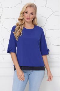 Блуза «Стела» цвета электрик