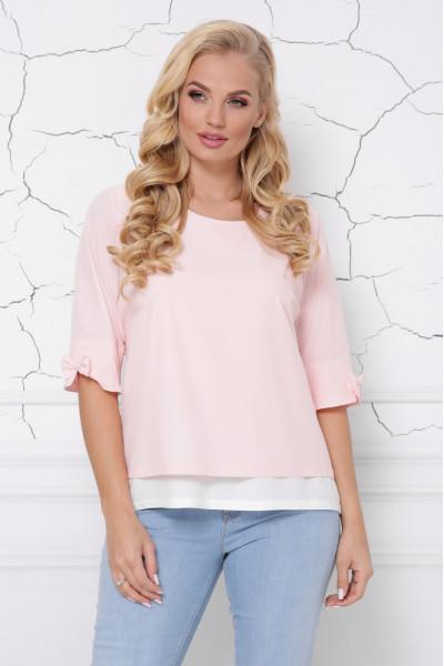 Блуза «Стела» персикового кольору