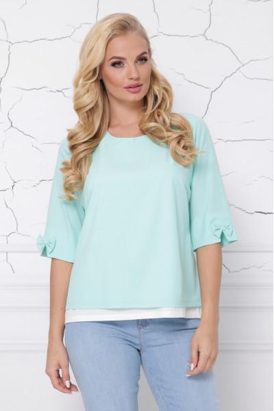 Блуза «Стела» м'ятного кольору