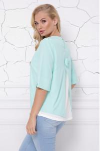 Блуза «Стела» мятного цвета
