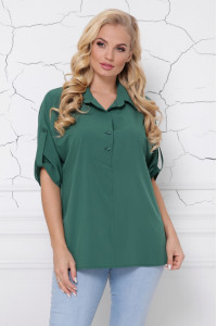 Блуза «Жози» изумрудного цвета