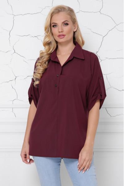 Блуза «Жозі» бордового кольору
