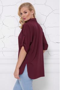 Блуза «Жози» бордового цвета