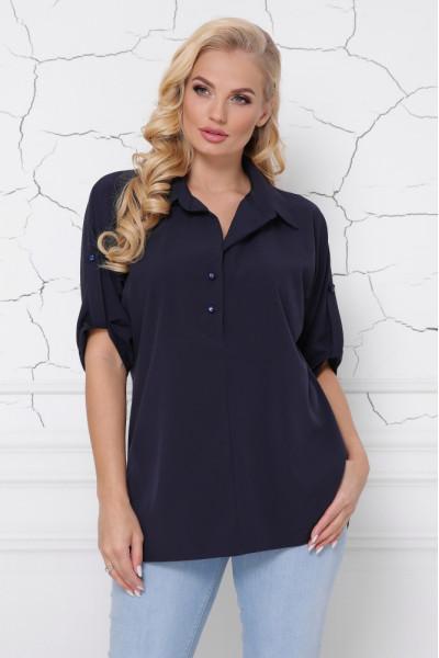 Блуза «Жозі» темно-синього кольору