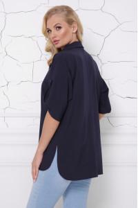 Блуза «Жози» темно-синего цвета