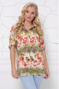 Блуза «Жози» цветной принт