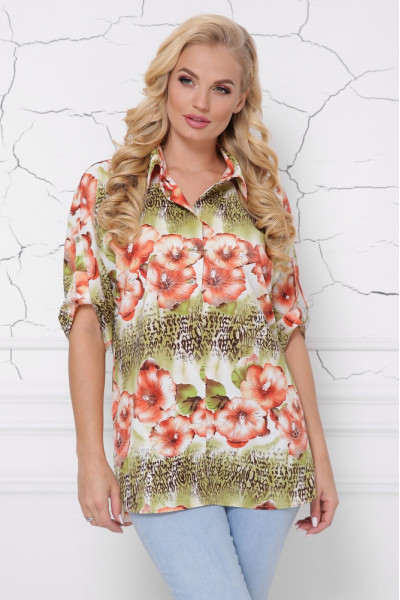 Блуза «Жозі» кольоровий принт