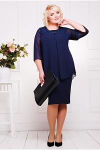 Платье «Афина» темно-синего цвета